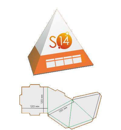 Календарь пирамида (в основании квадрат)