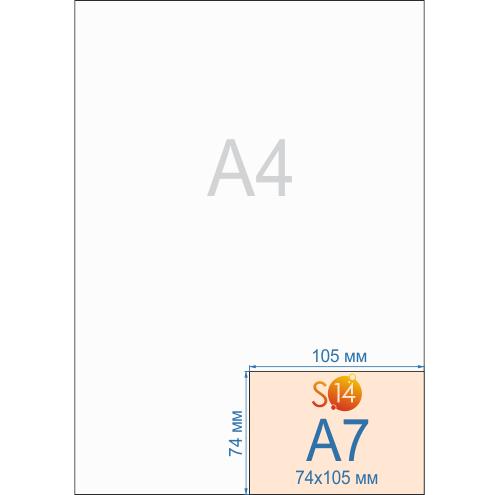 Флаеры формата А7